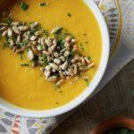 Sopa de Calabaza Jengibre y naranja