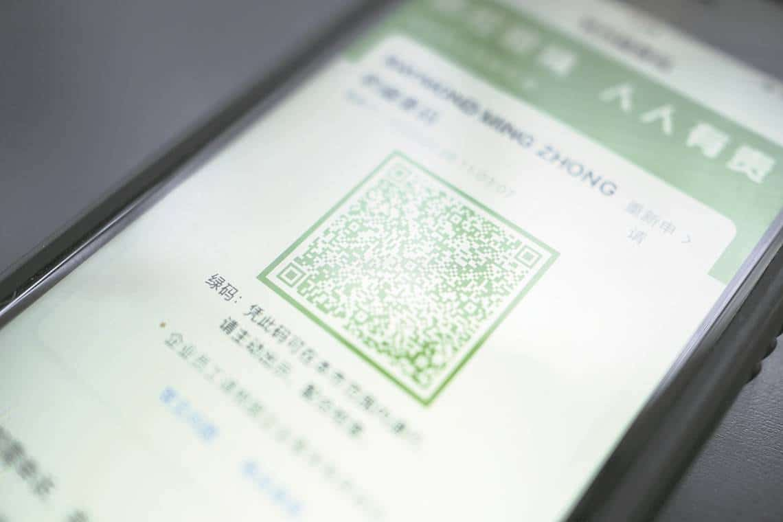 App china que controla el COVID19